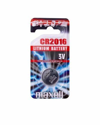 Maxell CR2016 3V Lithium Button Coin Cell Battery