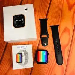 Max W26 Smart Watch 6 Smartwatch (Black Strap, 44)