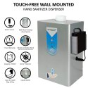 Automatic Hand Sanitizer Dispenser Wall Mount With Powered By Electricity Or 4aa Battery Silver