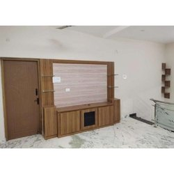 Brown Pvc Modern TV Unit, For Residential