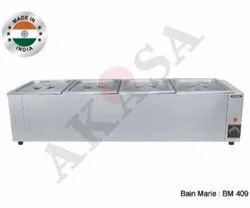 Akasa Indian Electric Hot Bain Marie Table Top - 4 Container