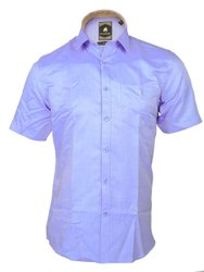 Blue Regular Fit Formal Half Sleeves Shirt
