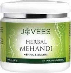 Green Jovees Henna And Brahmi Herbal Mehandi, Packaging Type: Plastic Jar, Packaging Size: 150 Gm