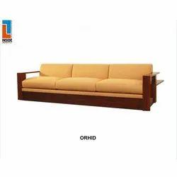 Rectangular 3 Seater Wooden Sofa Set