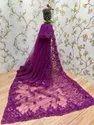 Thankar Border Designer Net With Embroidered Saree