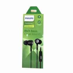 Black Philips Rich Bass Wired Earphone