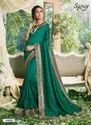 Green Color Swarovski Work Saree