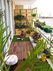 Back Yard terrace roof top,Balcony Landscaping design and service, For Residential