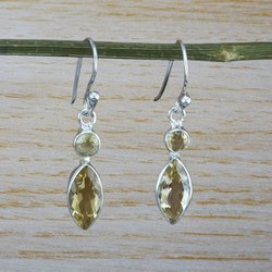 Citrine Gemstone Wholesale 925 Silver Jewelry Earring We-2139