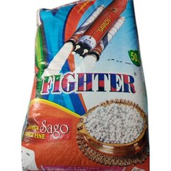 Fighter Glass White Sago Sabudana Seeds, Packaging Size: 50 Kg