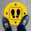 FLOOR STICKER SIGN STICKER -  SOCIAL DISTANCING