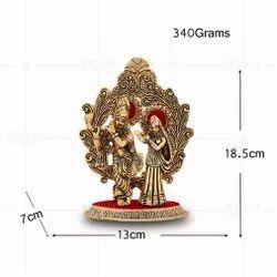 Gold Plated Radha Kishan Pankh Frame