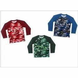 New Born-14 Year Kids Printed Cotton Hosiery T Shirt
