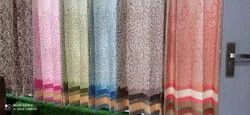 Flower Pure Cotton Embroidered Curtains, For Home, Size: 7ft And 3ft