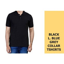Cotton Half Sleeves Mens Plain Collar Shirt, Size: Large