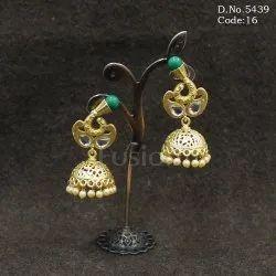 Matt Polish Jhumka Earrings
