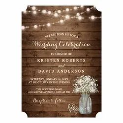 Printed Wedding Cards with Shape Cutting