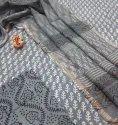 Natural Hand Block Printed Cotton Dress Material With Kota Doria Dupatta.