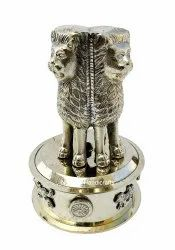 Nirmala Handicrafts Metal Ashoka Pillar Statue Indian Decorative Showpiece