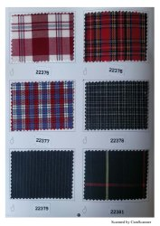 Poly Cotton Texture Check School Uniform Fabric