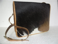 Hair On Leather Messenger Bag