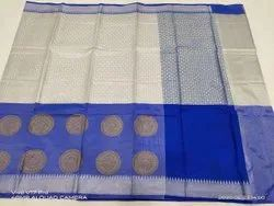 6.3 m (with blouse piece) Casual Jamdani Silk Saree