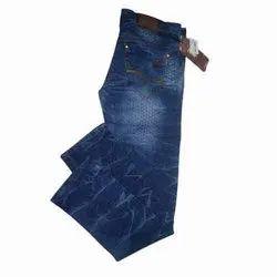 Slim Fit Narrow Bottom Zipper Mens Stylish Denim Jeans, Waist Size: 28 to 34, Button