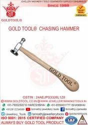 Gold Tool Hammer Chasing With Handle