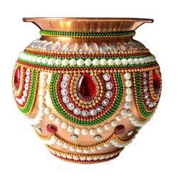 4 Inch Decorative Copper Puja Kalash