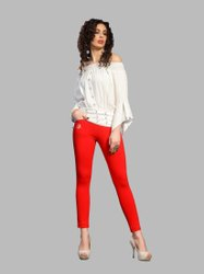 cotton lycra Multicolor hirshita kurti pant with mobile pocket, 250, Waist Size: 36