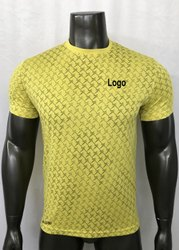 Men Printed T-Shirt, Sports Printed T-Shirt, Polyester Sports T-Shirts
