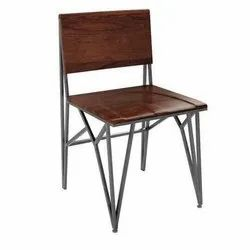 Indesign Furniture Brown Metal And Wooden Chair