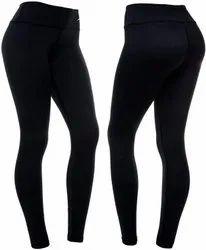 Cotton Plain Ladies Casual Leggings, Size: Free Size