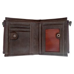Men Genuine Leather Wallets with RFID Protected