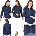 Full Sleeves Lining Ladies Cotton Shirts Formal