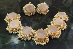 Real Stone Necklace Set Fashion Wear