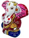 Metal Meenakari Kan Ganesha Statue Handmade Enamel Work God Idol Sculpture