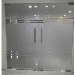 Hinged Toughened Glass Doors, For Office, Thickness: 15 Mm
