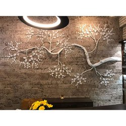 Frp Tree On Mocha Stone Mural