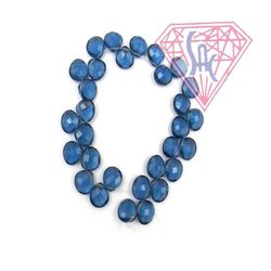 Iolite Gemstone Beads Handmade Beaded Strand