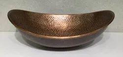 CLT SLAB Copper Sinks Wash Basin, For Home, Model Name/Number: 5107