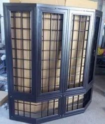 Modern Blue Color Coated Galvanized Steel Window, For Residential, Size/Dimension: 4* 3 Feet