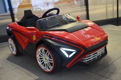 Battery Operated Red and Black Kids Ferrari Style Ride On Car