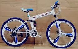 White Audi Foldable Cycle