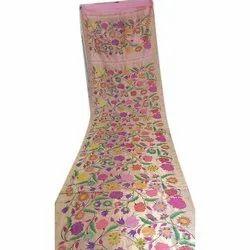 Pink All Over Hand Work Silk Saree