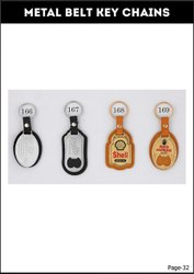 Golden Stainless Steel Promotional Keychain, 2mm