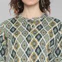 Janasya Women''s Turquoise Green Cotton Flex Top(J0031)