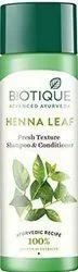 Biotique Bio Henna Leaf Fresh Texture Hair Shampoo And Conditioner