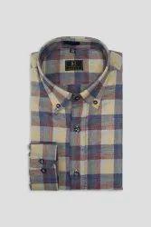 Boros Russet Brown Checks Shirt, Machine wash
