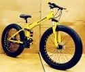 Yellow Hummer Fat Foldable Cycle